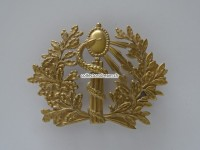 Messing Emblem zu Giberne / Umhängetasche, Arzt, Ord. 1852
