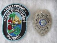 Badge Detention Hollywood Police Florida
