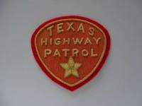 Stoffabzeichen Texas Highway Patrol, Metallfaden Stickerei, ca. 1960-er Jahre