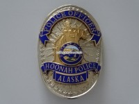 Dienstmarke / Badge Police Officer, Hoonah Police, Alaska