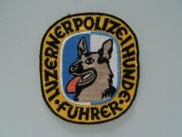 Patch / Stoffabzeichen Luzerner Polizeihunde Führer, ältere Version