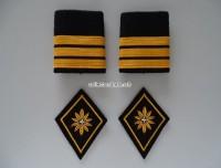 Patten / Schlaufen Paar Oberst im Generalstab, inkl. 2 Kragenspiegel