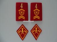 Patten / Schlaufen Paar Adjutant Festungsartillerie