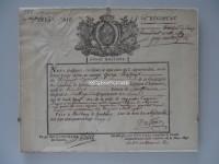 Entlassungsurkunde eines Schweizers in Französischen Diensten von 1792