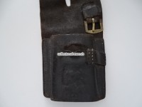 Ledertrage -Tasche / Frosch zu Briquet / Säbel kant. Ord. 1804 Artillerie/Genie