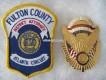 Metall-Badge, Fulton County Police, 25th Anniversary 1975-2000